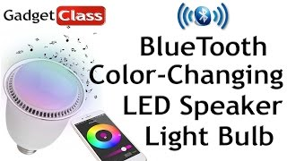 review led color changing light bulb w bluetooth speaker hlight android ios smart bulb