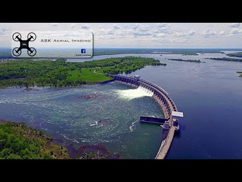 St Lawrence Seaway water levels and the Long Sault Dam in Massena