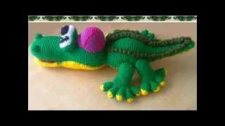 Как связать Крокодила крючком