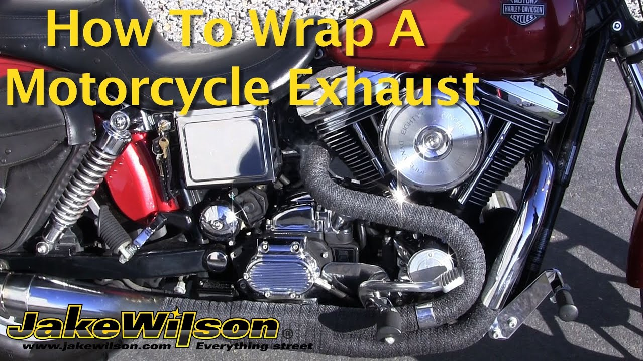 how to wrap a motorcycle exhaust