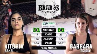 "Atropelo na luta feminina de mma entre: Vitoria ""Sakai"" x Barbara Acioly - Brabos Combat 2"
