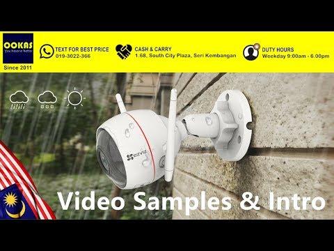OOKAS - Video Samples of C3W IP66 Outdoor Sound & Light Defense IP Camera