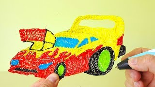 How To Make Racing Car For Kids With 3d Pen