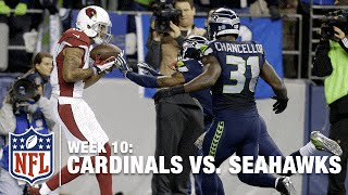 Michael Floyd Keeps Feet In Bounds for Spectacular TD! | Cardinals vs. Seahawks | NFL