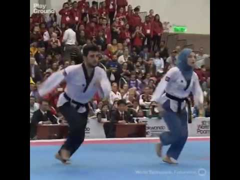 The Queen of Taekwondo wears a hijab