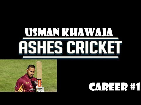 Ashes Cricket - Usman Khawaja Career #1 - One Day Century?? - PS4 Gameplay