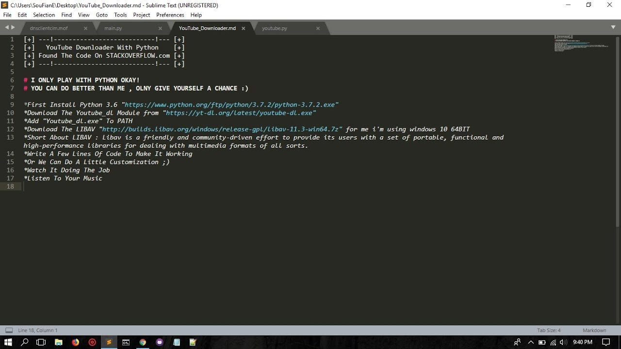 PYTHON - Youtube Downloader & Converter To Mp3 [ Play With Python ]