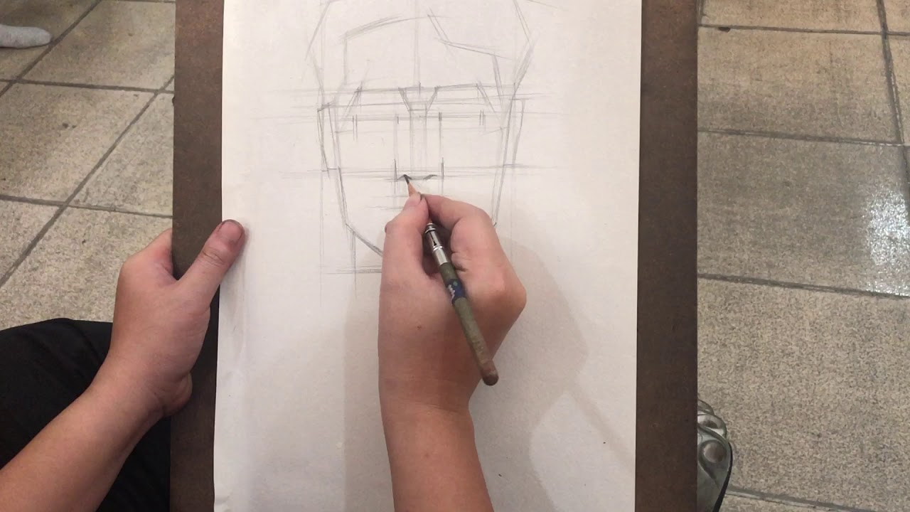 học vẽ thi khối H – vẽ chân dung