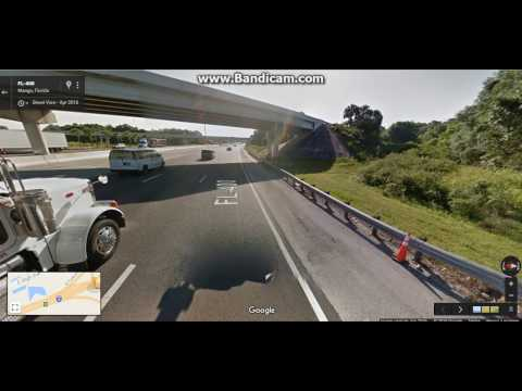 Interstate 4 In Florida From Exit 1 to 10 eastbound (Used Google Maps)