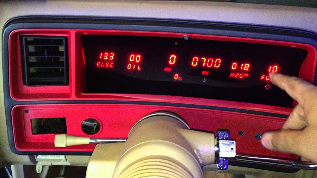 intellitronix red 6 gauge led gauges youtube rh youtube com intellitronix gauge wiring diagram intellitronix wiring diagram