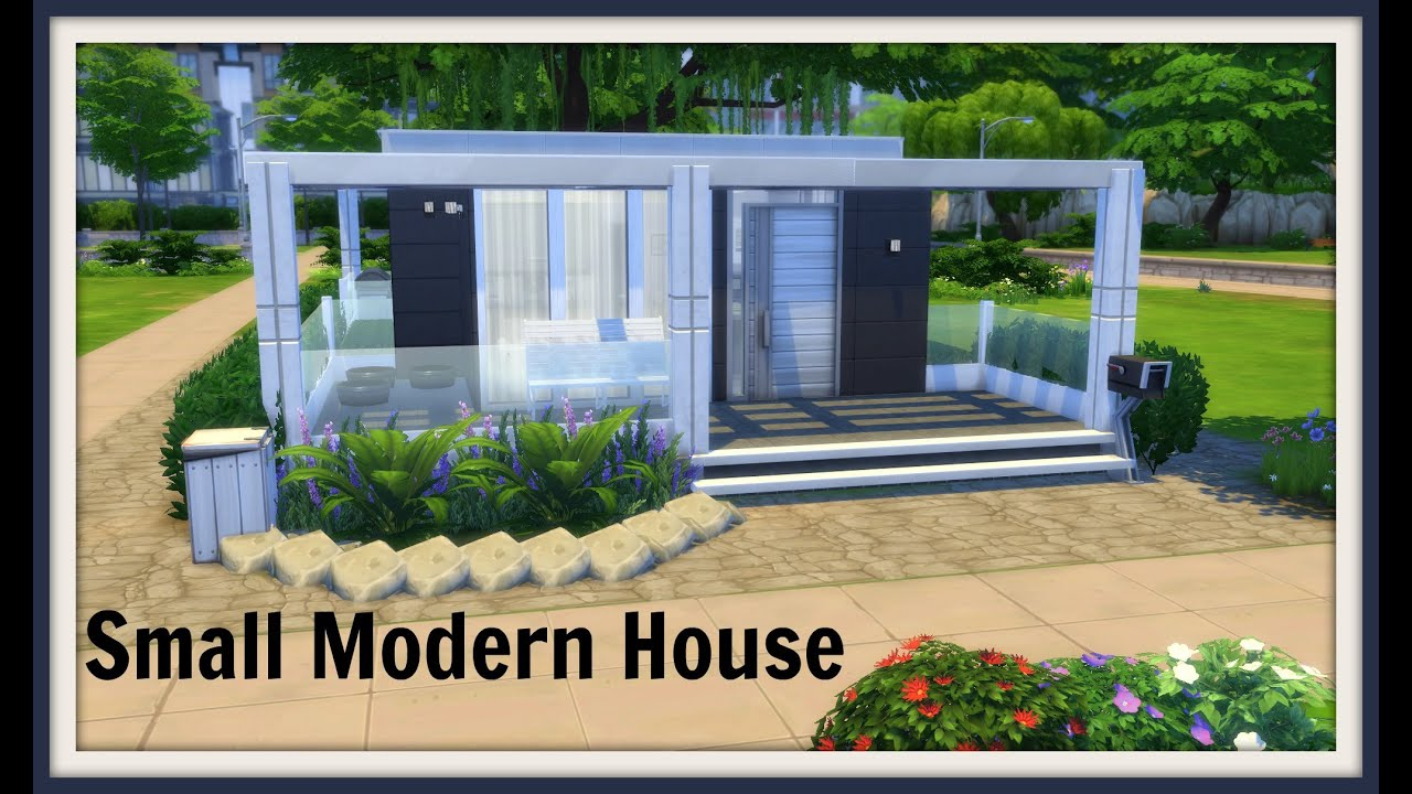 Sims 4 Speed Build Small Modern House Youtube