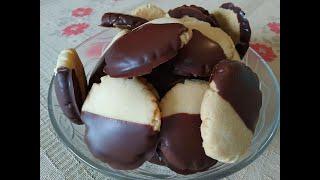 Biscoito Grego com Cobertura de Chocolate