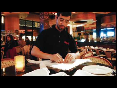 cheese cake bus boy natural routine - YouTube - restaurant busboy