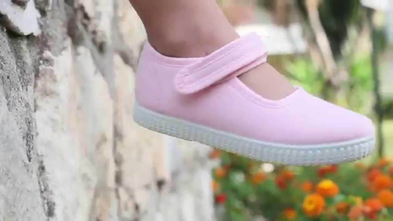 diseño atemporal 8e8fd d7827 Merceditas Niña Tela suela tipo zapatilla con Velcro - Calzado barato  online Pisamonas