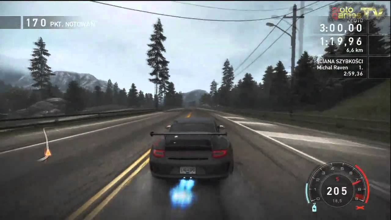 Need For Speed Hot Pursuit Xbox 360 Porsche 911 Gt3 Rs Gameplay