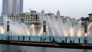 I WILL ALWAYS LOVE YOU..WHITNEY HOUSTON..DUBAI FOUNTAIN