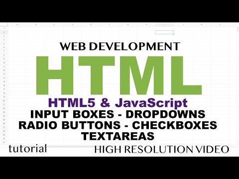 HTML - Input, Dropdown, Checkbox, Radio - HTML5 & JavaScript - Part 2