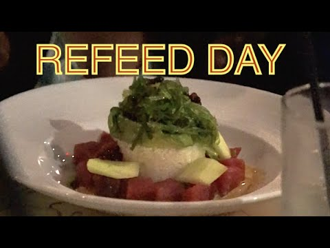 Contest Prep 28: REFEED DAY-Moe's Bowl, Cheat Meal, Cheers to 12 Weeks Out from NPC Competition