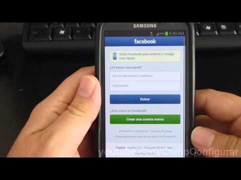 como descargar y configurar facebook samsung galaxy s3 español