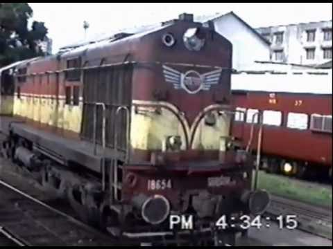 Diesel-hauled Paschim Exp. Reverses out of Bombay Central (Aug. 1995)