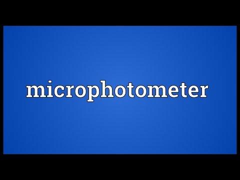 Header of microphotometer