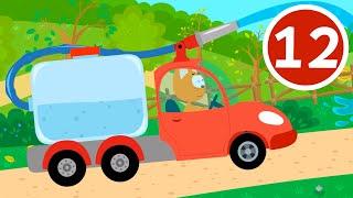 ПОЛИВАЛКА - Котёнок и волшебный гараж - Мультфильмы про машинки