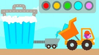 Sago Mini Trucks and Digger Build and Learn Games for Children