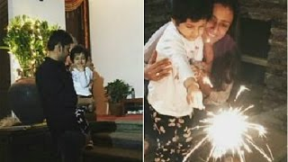 Mahesh babu with lovely family in diwali celebrations very cute video