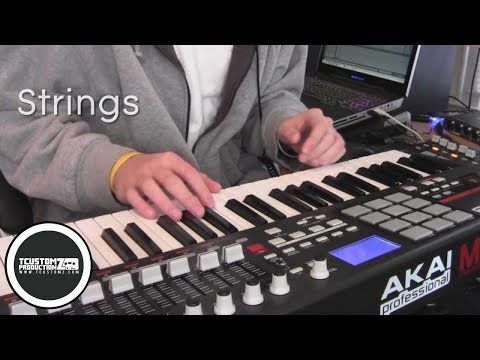 Piano Hip Hop Beat Making Video w/ Akai MPK49