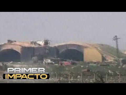 Así quedó la base aérea de Siria tras el ataque con misiles de EEUU