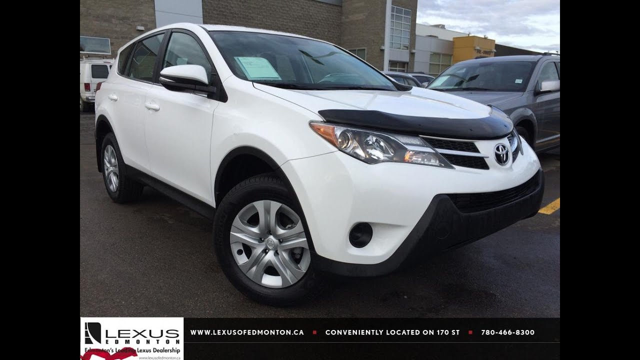 Used White 2017 Toyota Rav4 Awd Le Review Sylvan Lake Alberta