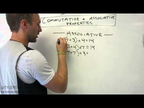 Algebra - Associative and Commutative Properties