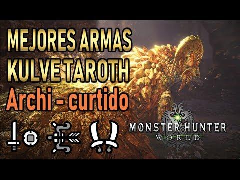 MEJORES ARMAS KJARR (Kulve Taroth Archi - Curtido) - Monster Hunter World (Gameplay Español) thumbnail