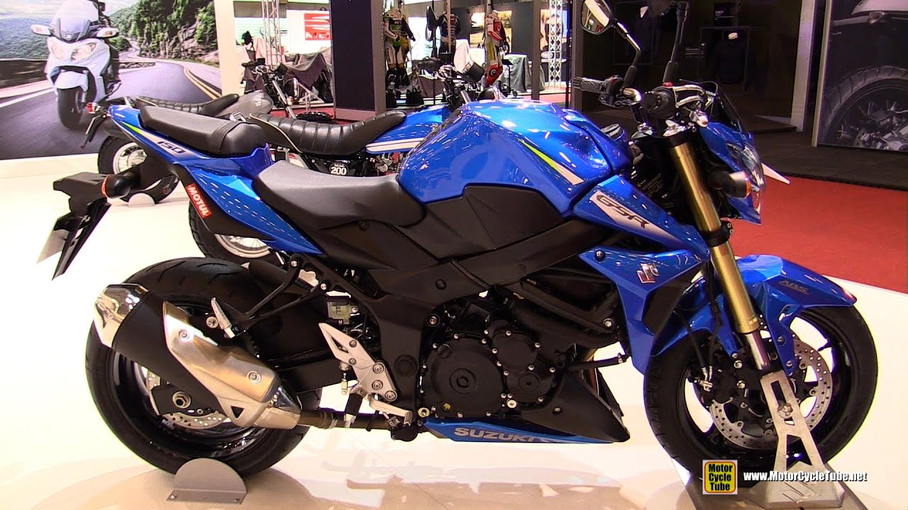 2016 suzuki gsr 750 walkaround 2015 salon de la moto paris youtube. Black Bedroom Furniture Sets. Home Design Ideas