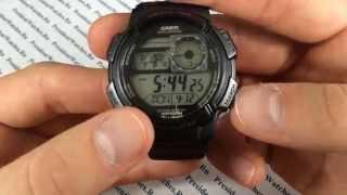 Обзор на часы Casio AE-1000W-1A - видео наручных часов от PresidentWatches.Ru(Функции и характеристики наручных часов Casio AE-1000W-1A Часовой магазин PresidentWatches.Ru - http://presidentwatches.ru/ Подробнее..., 2014-05-11T20:57:46.000Z)