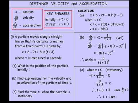 Year 11 and 12 Advanced - Distance, Velocity and Acceleration ...