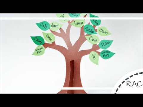 How to make a family tree diy best out of waste for Family arts and crafts
