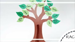 DIY| RECYCLED KIDS CRAFT|HOW TO MAKE A FAMILY TREE|Recycled Arts & Crafts