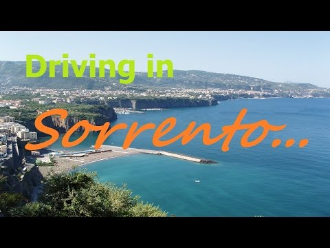 Driving in Sorrento (NA - Italy)