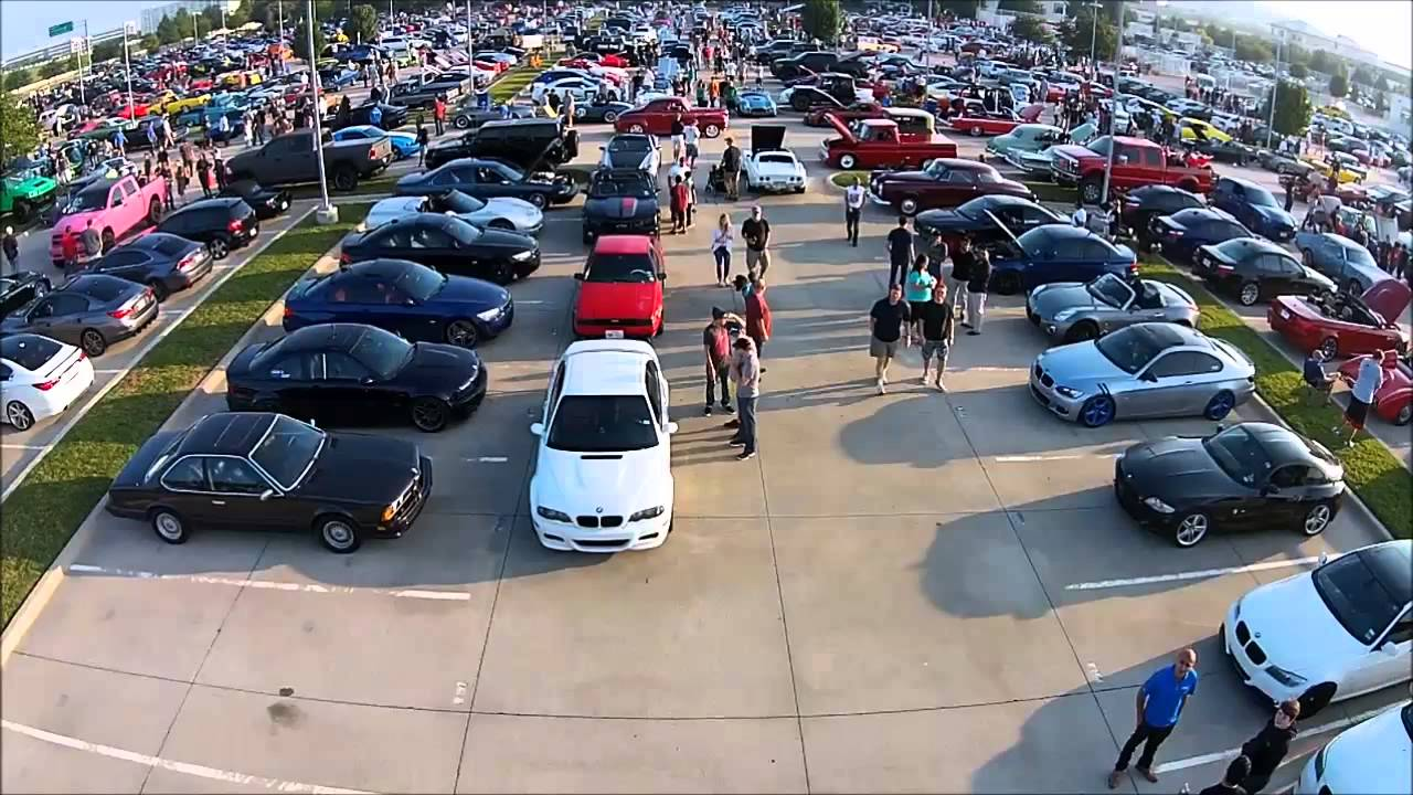 Cars and Coffee Dallas TX August 2014 - YouTube