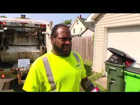 Hidden Camera Captures Ohio Crew Dumping Recycling Cans with Trash