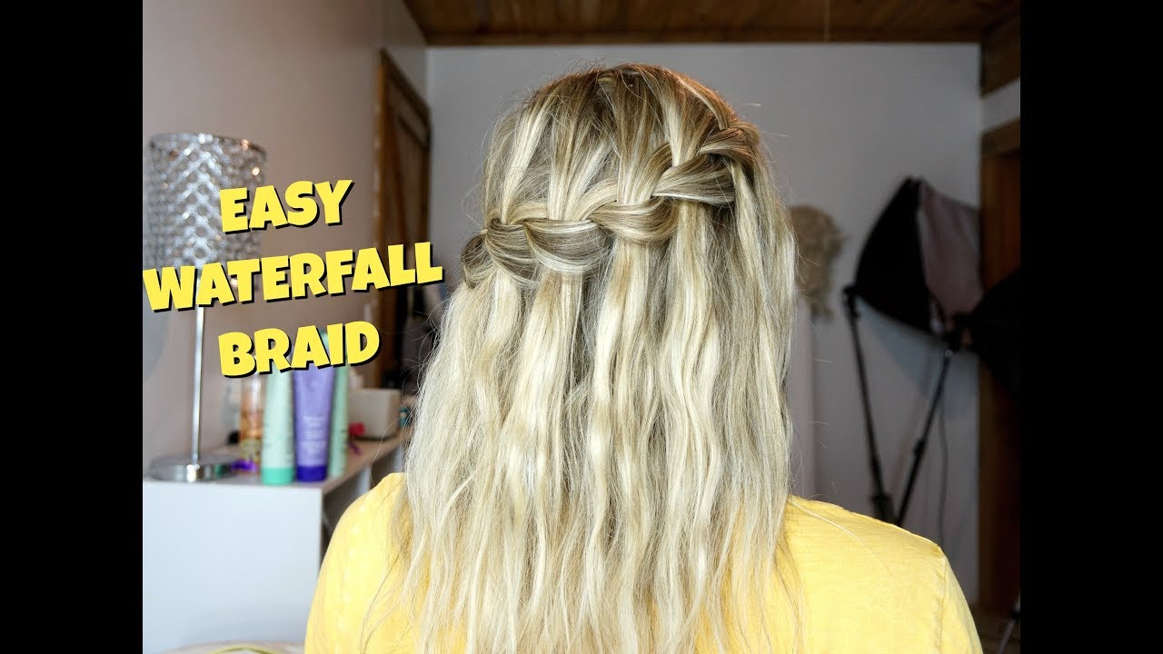 How To Waterfall Braid Hairstyle For Short Medium And Long Hair Youtube