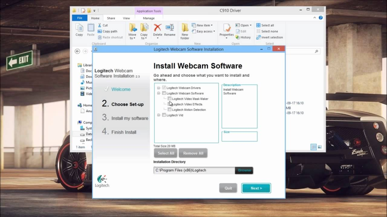 How To Install Logitech C910 Drivers On Windows 8 Youtube