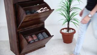 Shoe Rack - Buy Ferron Shoe Rack Online Ferron Shoe Rack Online available at Wooden Street. Good shoes take you to good