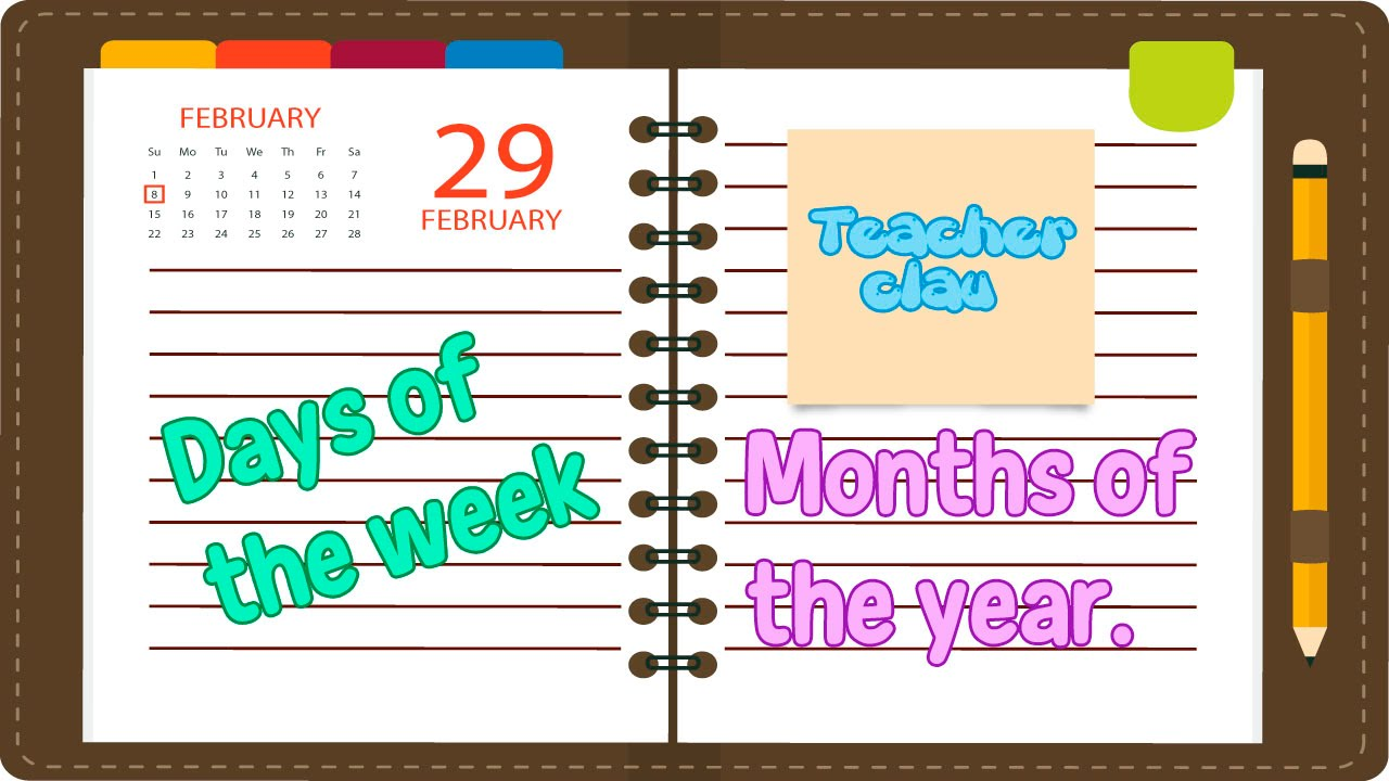 Aprende En Inglés Los Días De La Semana Y Meses Del Año Youtube