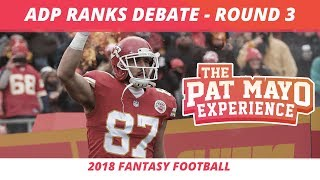 2018 Fantasy Football RankIngs - Third Round Average Draft Position and Strategy