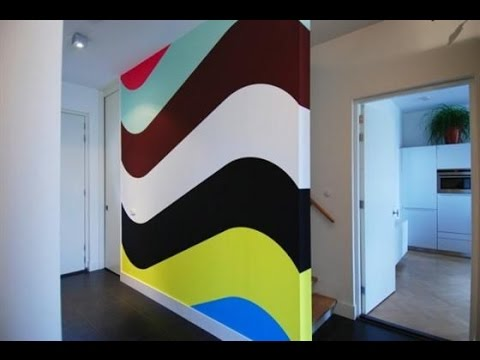 How To Paint A Stripe. Painting Stripes On Walls. - YouTube