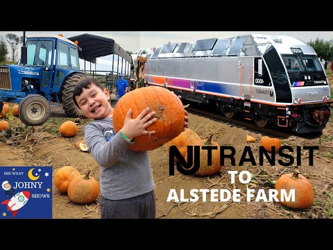 Johny's New Jersey Transit Train Ride To The Pumpkin Patch Alstede Farm From Penn Station