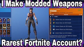 The Most Expensive Modded Fortnite Account! Modded STW Weapons 25+ Legacy Schematics Renegade Raider