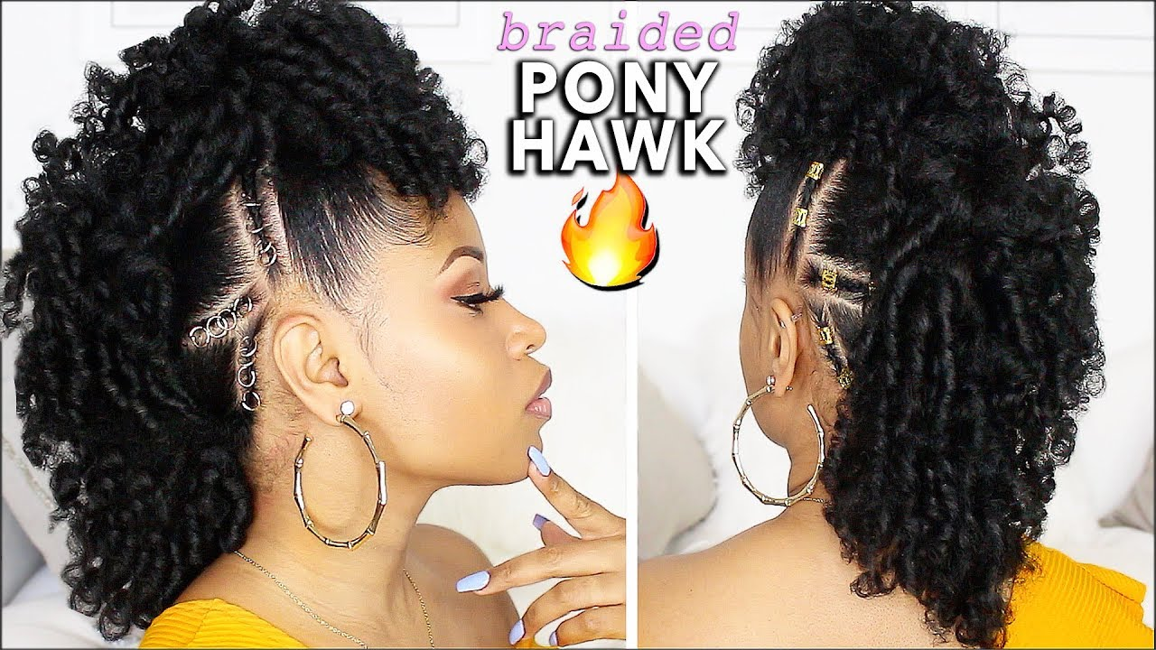 easy & defined curly braided mohawk! ⇢ natural hair tutorial